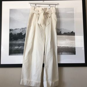 H&M off white high waist wide leg never worn